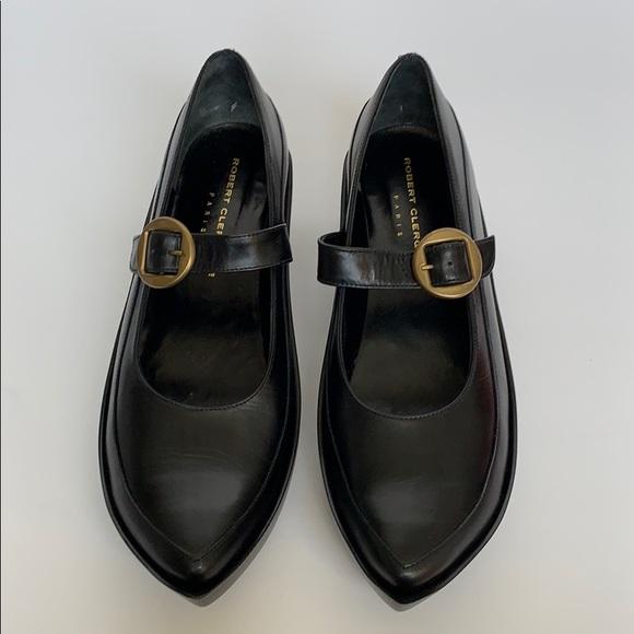 Robert Clergerie Shoes - ROBERT CLERGERIE Black Leather Platform Maryjanes